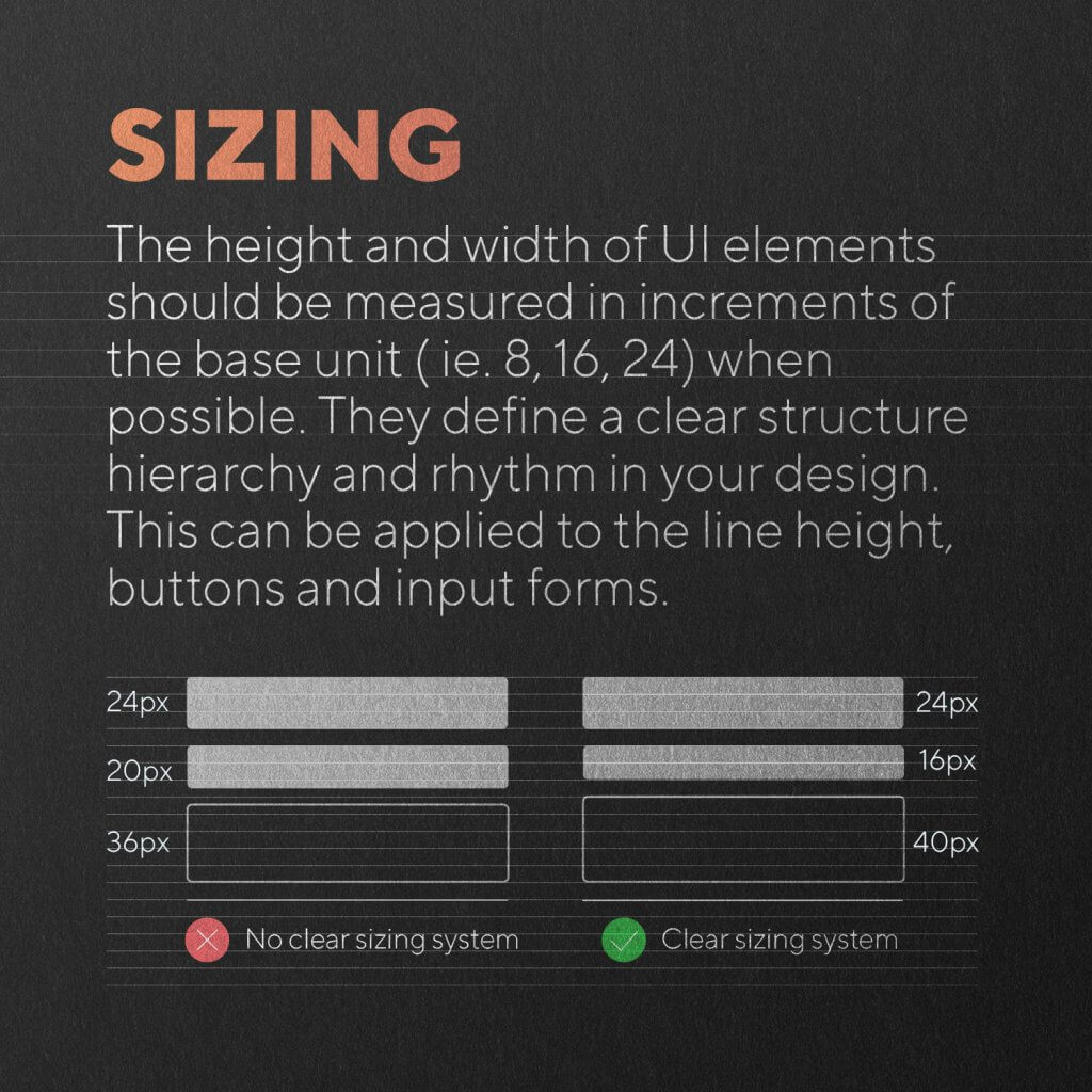 sizing example
