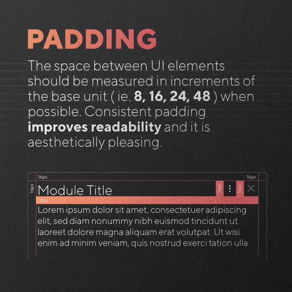 padding example