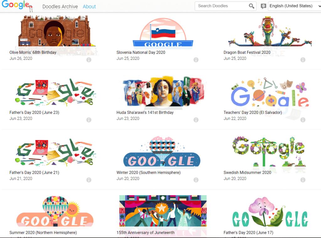 google. doodles